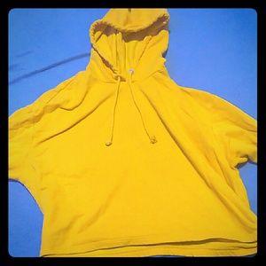 Gold crop top hoodie